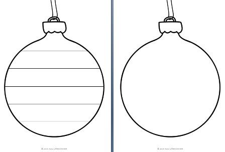 Kerstbal Kleurplaat Leeg Archidev