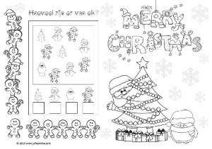 Sinterklaas Kleurplaten Bovenbouw Placemat Kerstontbijt Kleuters 187 Juf Leontine