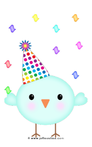 Bird glow colour birthday