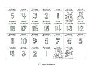 Aftelkalender Sinterklaas 2014