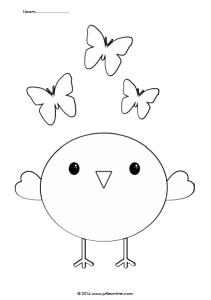 Kleurplaat vlinder