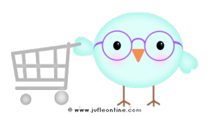 Bird glow colour glasses shopping cart