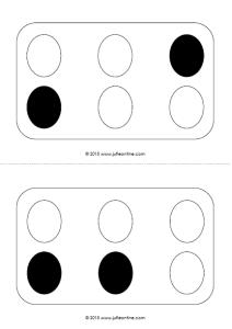 Eieren naleggen zwart-wit
