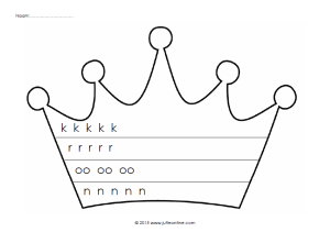 Kroon met schrijfpatronen