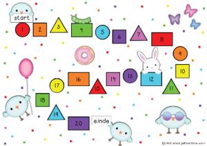 Het grote kleuren- en vormenspel spelbord