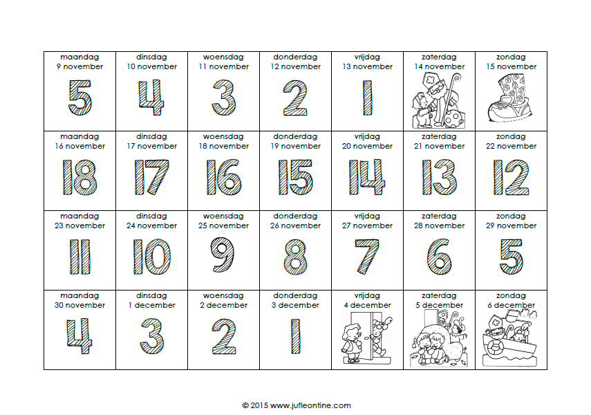 Aftelkalender 187 Juf Leontine