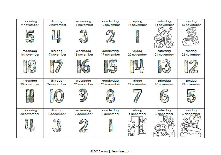 Aftelkalender Sinterklaas 187 Juf Leontine