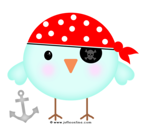 Bird glow colour pirate